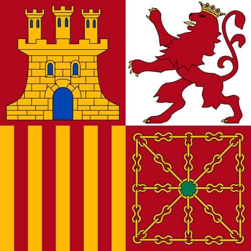 Bandera de Proa tajamar o torrotito de la Armada Espanola