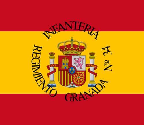 Bandera de Unidad Militar española