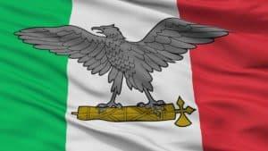Bandera de guerra de la Republica Social Italiana