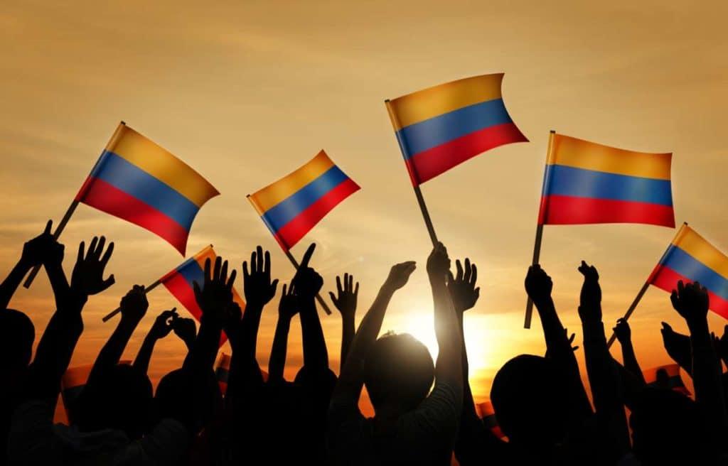 saludo a la bandera colombiana