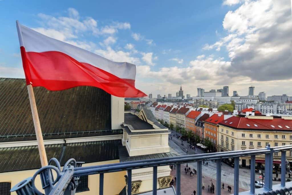 imagen de bandera en polonia