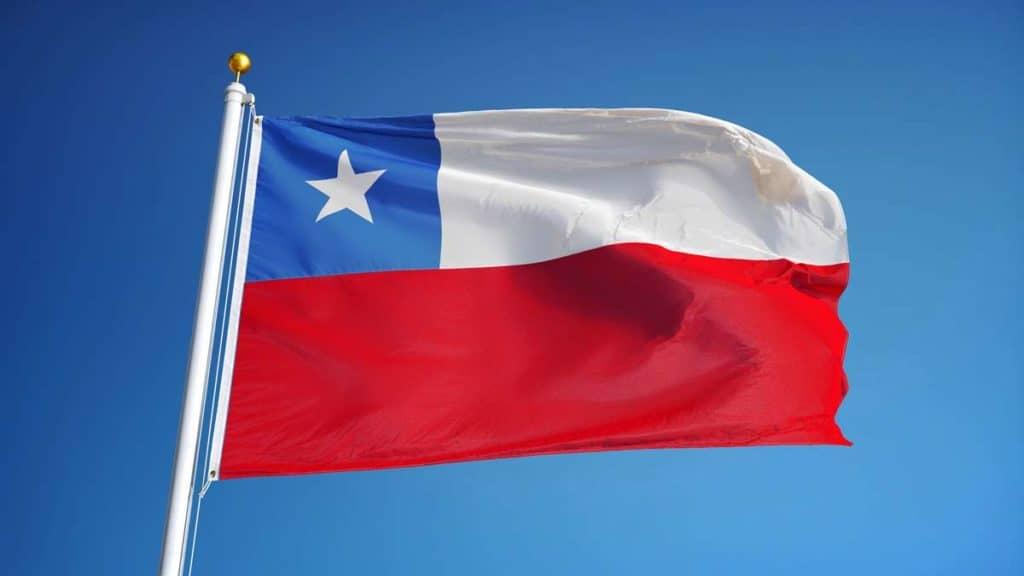 bandera de chile flameando