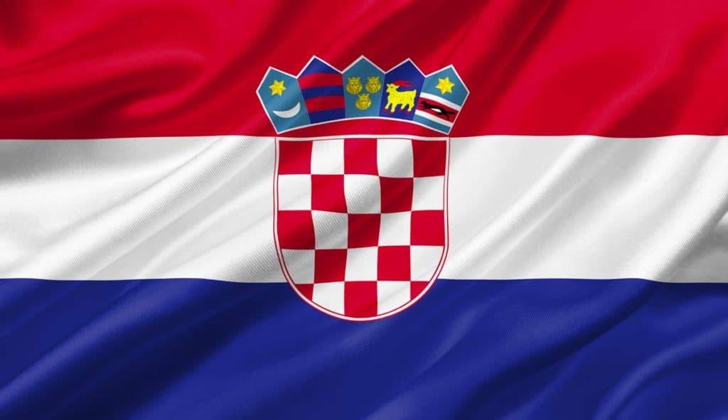 Bandera de Croacia actual