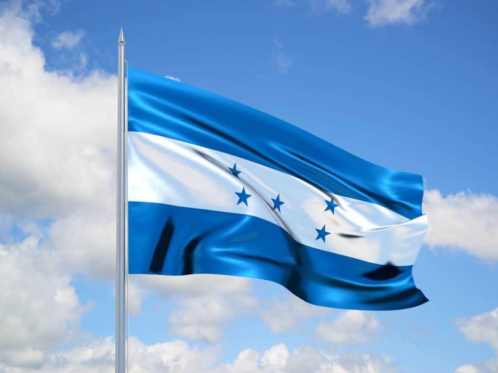 la bandera de honduras