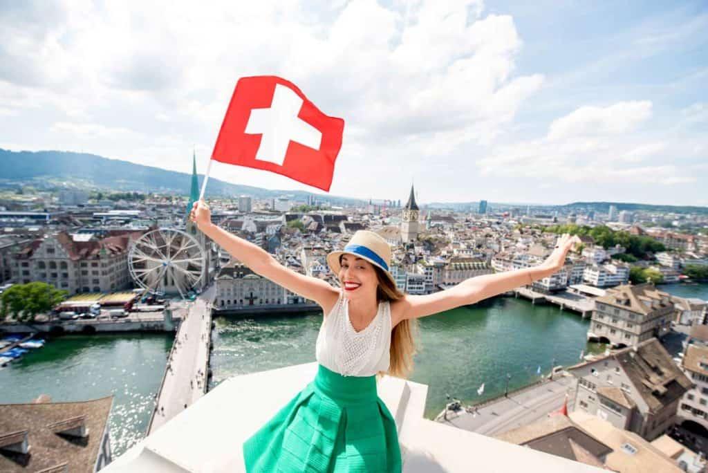 Bandera de Suiza actual