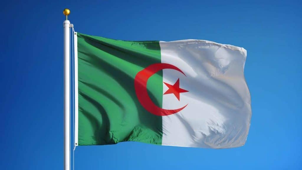 Bandera de Argelia actual