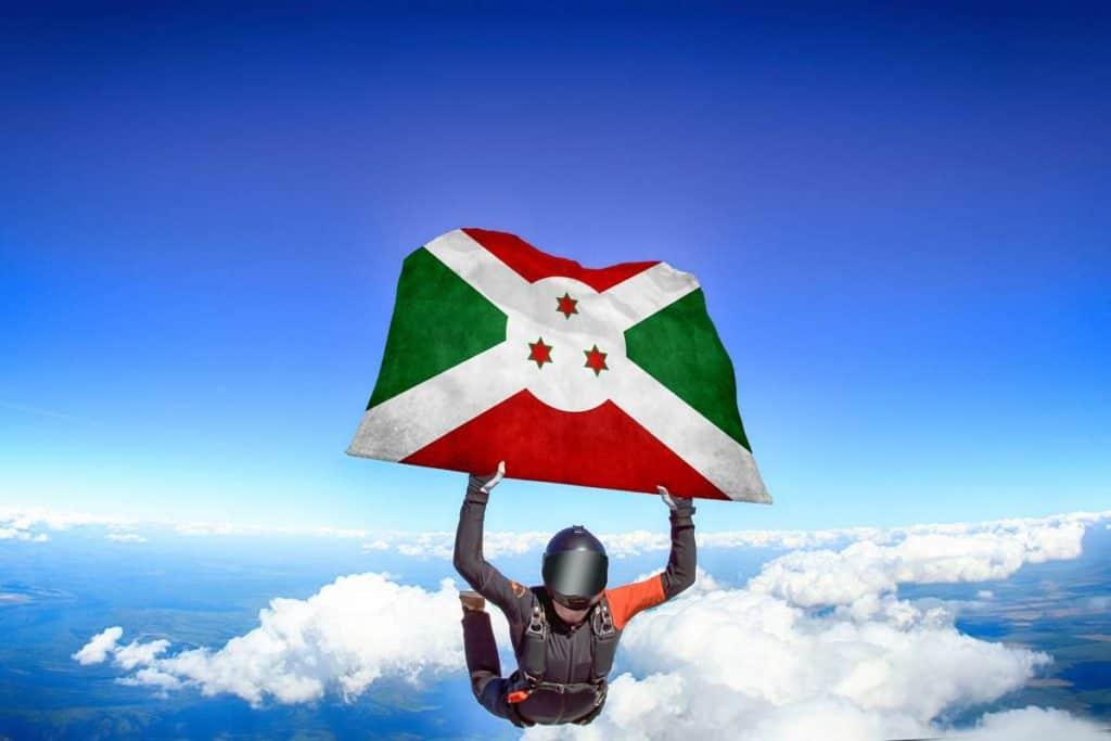 bandera actual de Burundi