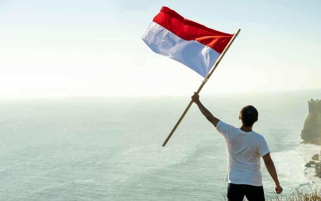 historia bandera de indonesia