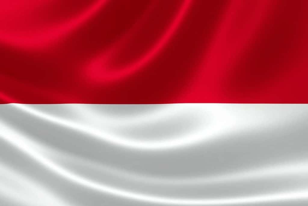 significados bandera de indonesia